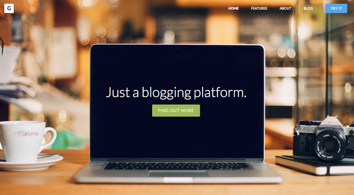 Try Ghost - a new blogging platform