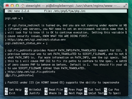 Configure PHP with Nginx on Raspberry Pi