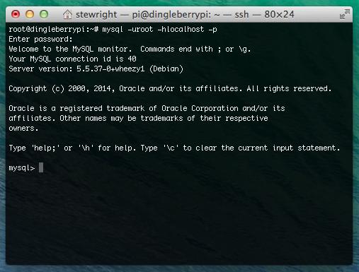 Install MySQL on Raspberry Pi