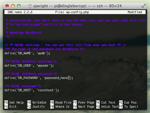 Install WordPress on Raspberry Pi