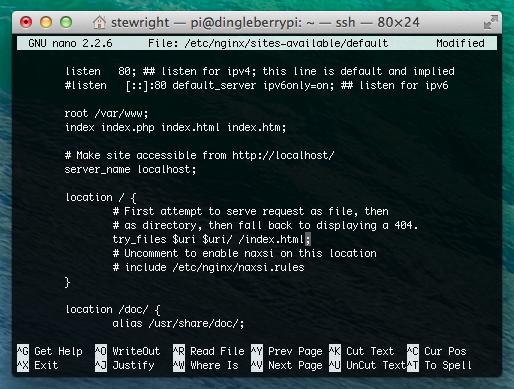 Configure pretty permalinks in Nginx