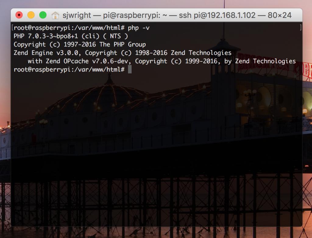Install PHP 7 on Raspbian
