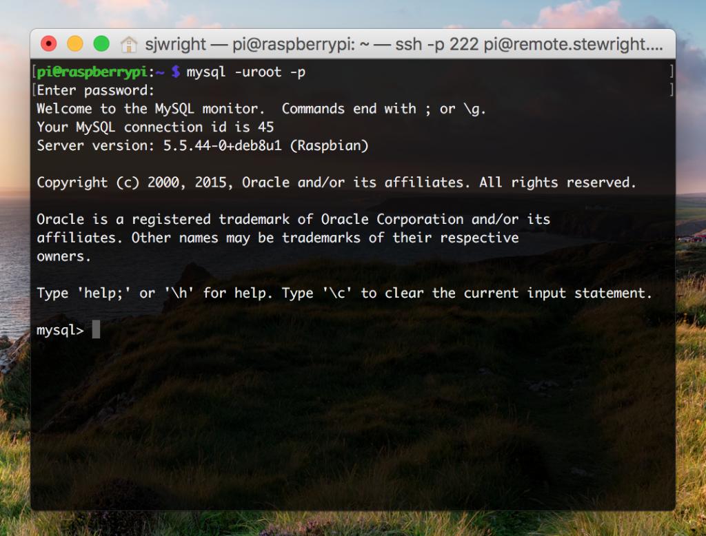 Install MySQL on Raspbian