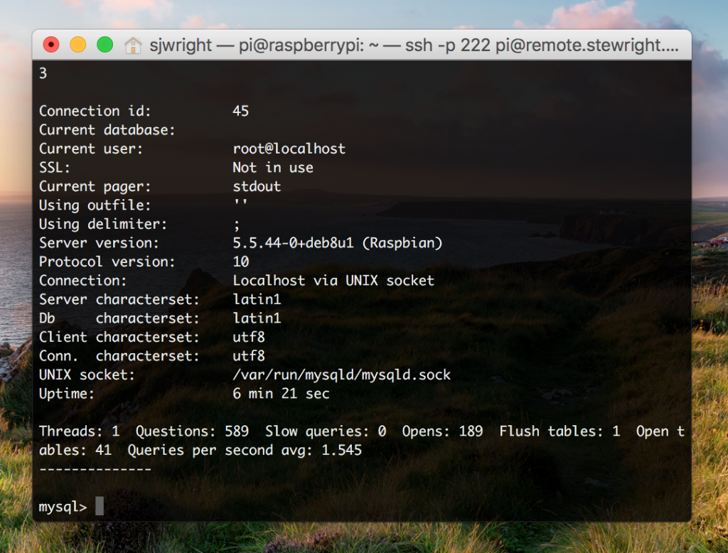 MySQL on Raspbian OS