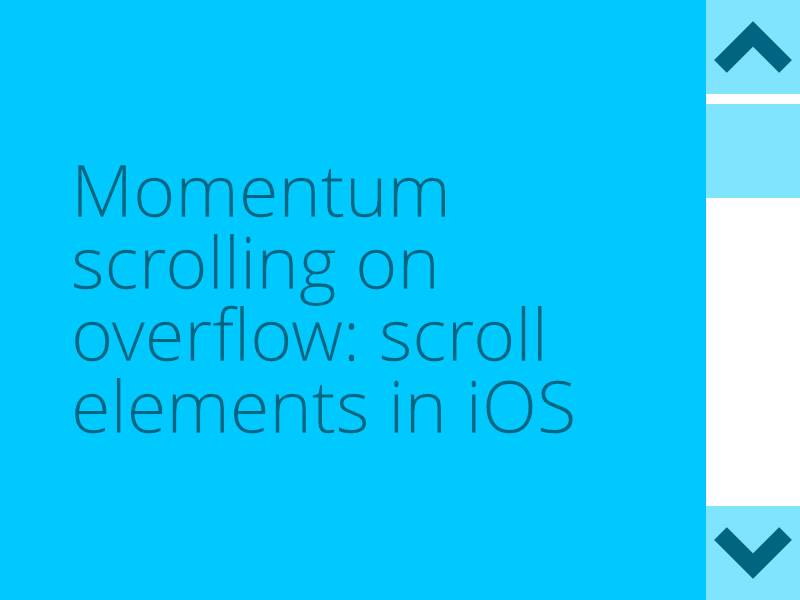 momentum scrolling on iOS