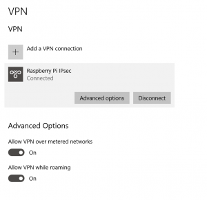 Connect to VPN in Windows 10