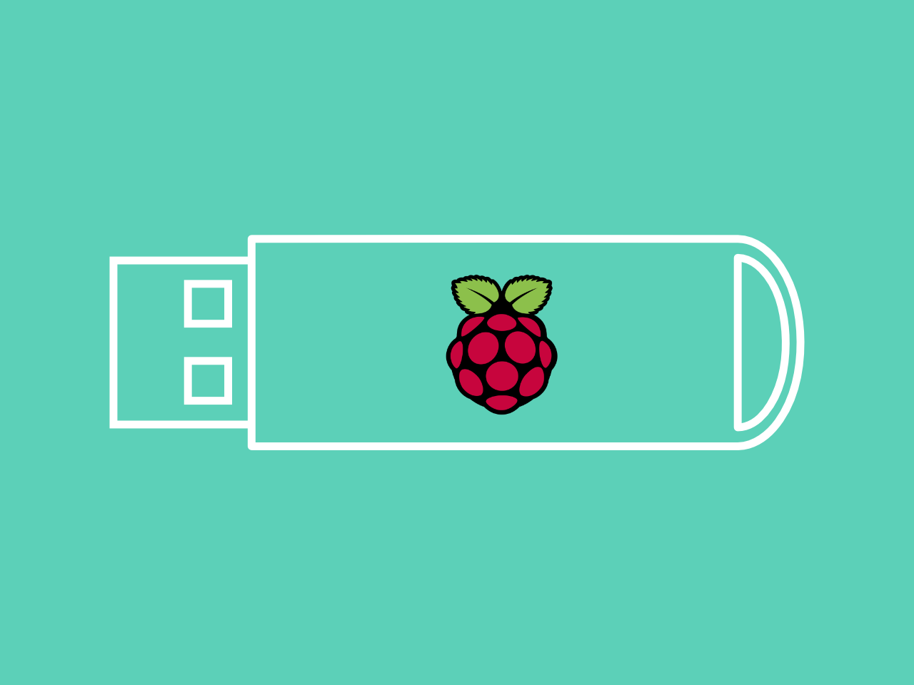 Boost Raspberry Pi performance by installing Raspbian on a USB Flash drive from Windows