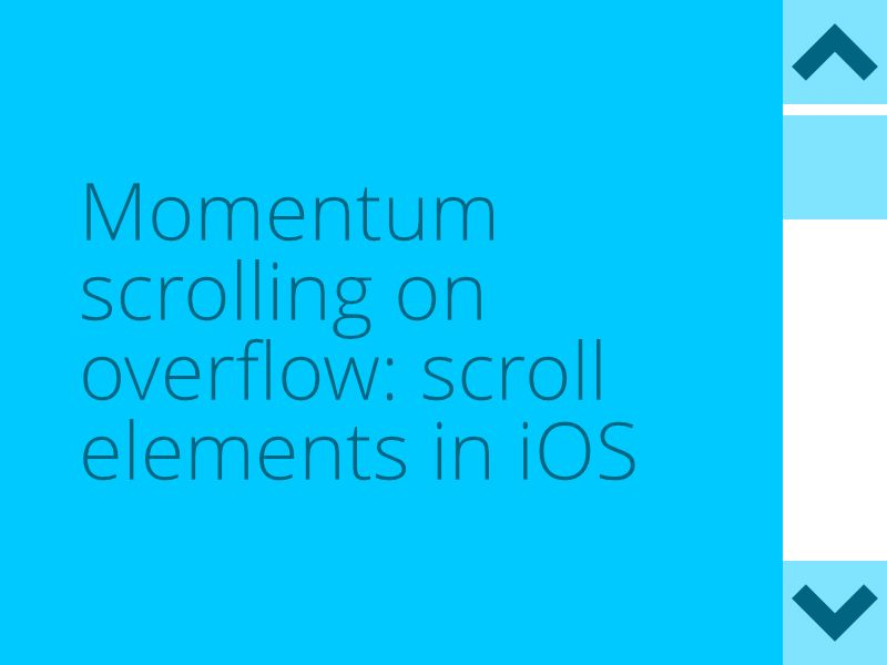 CSS: How to add momentum scrolling on Safari iOS to elements with overflow: scroll